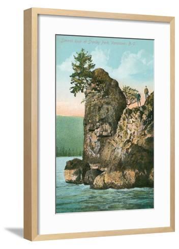 Simash Rock, Stanley Park, British Columbia--Framed Art Print