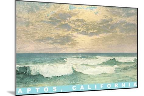 Ocean Waves, Aptos, California--Mounted Art Print