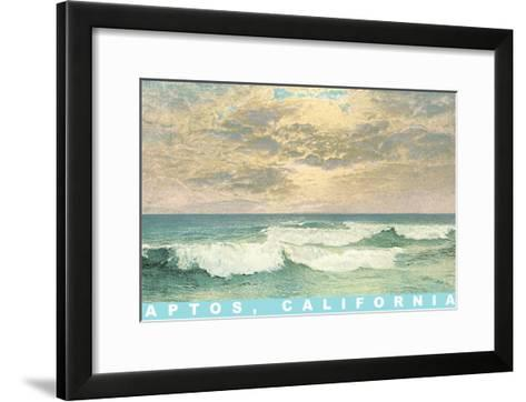 Ocean Waves, Aptos, California--Framed Art Print