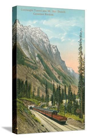 Connaught Tunnel, Mt. Macdonald, Canadian Rockies--Stretched Canvas Print