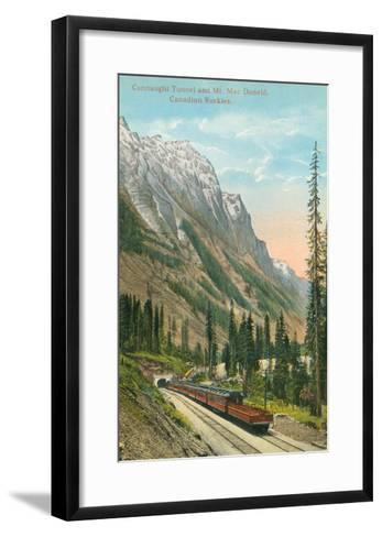 Connaught Tunnel, Mt. Macdonald, Canadian Rockies--Framed Art Print