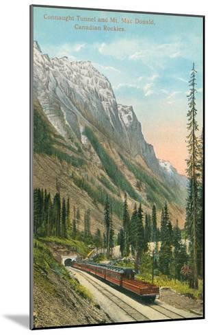 Connaught Tunnel, Mt. Macdonald, Canadian Rockies--Mounted Art Print