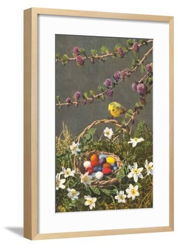 Bright Easter Eggs in Nest--Framed Art Print