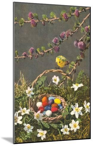 Bright Easter Eggs in Nest--Mounted Art Print