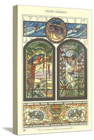 Art Nouveau Stained Glass--Stretched Canvas Print