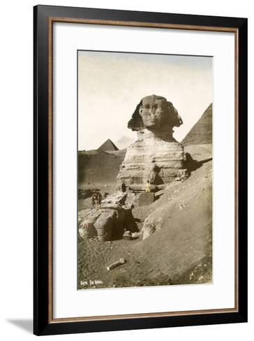The Sphinx--Framed Art Print