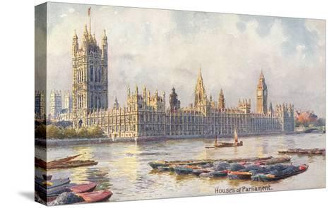 Houses of Parliament, London, England--Stretched Canvas Print