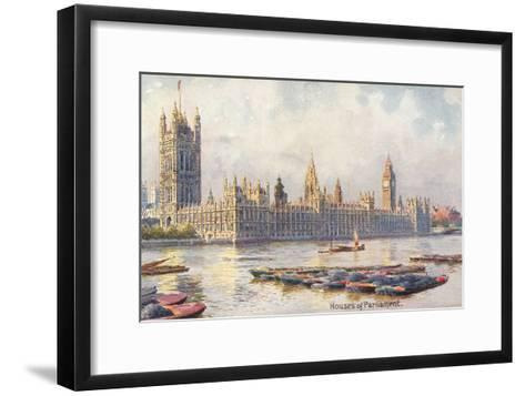 Houses of Parliament, London, England--Framed Art Print