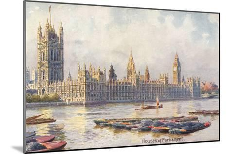 Houses of Parliament, London, England--Mounted Art Print