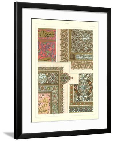 Arabic Design Motifs--Framed Art Print
