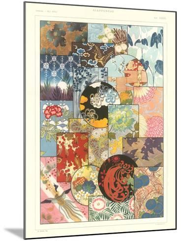 Japanese Design Motifs--Mounted Art Print