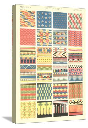 Egyptian Borders and Motifs--Stretched Canvas Print