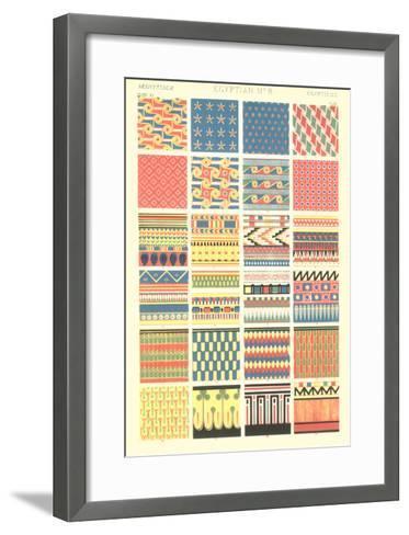 Egyptian Borders and Motifs--Framed Art Print