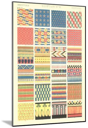Egyptian Borders and Motifs--Mounted Art Print