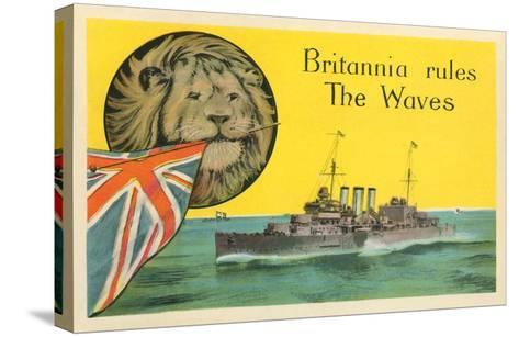Britannia Rules the Waves, Battleship--Stretched Canvas Print