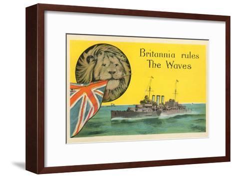 Britannia Rules the Waves, Battleship--Framed Art Print