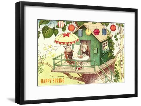 Happy Spring, Beetles at Breakfast--Framed Art Print