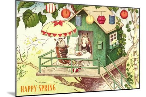 Happy Spring, Beetles at Breakfast--Mounted Art Print