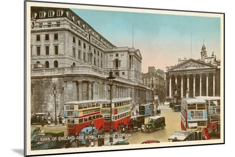 Bank of England, Royal Exchange, London--Mounted Art Print