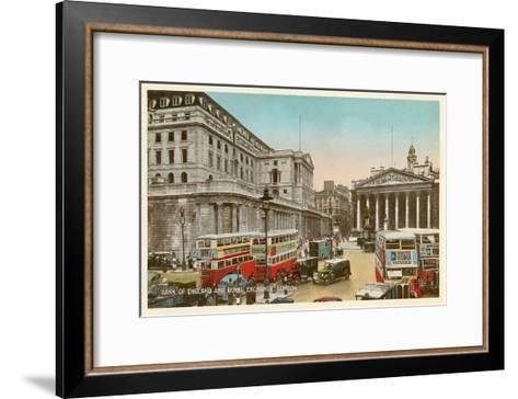 Bank of England, Royal Exchange, London--Framed Art Print