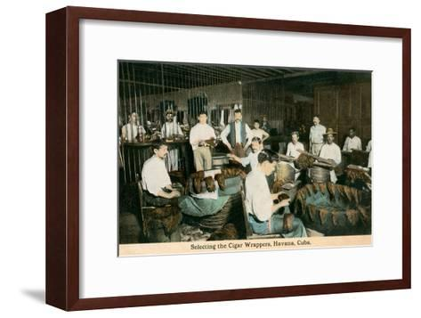 Cigar Wrappers, Havana, Cuba--Framed Art Print