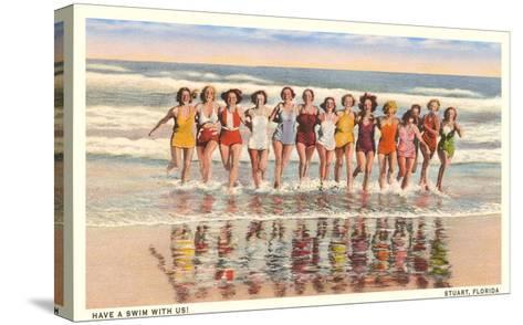 Bathing Beauties, Stuart, Florida--Stretched Canvas Print