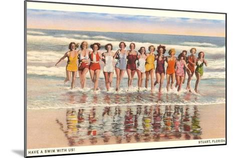 Bathing Beauties, Stuart, Florida--Mounted Art Print