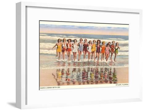 Bathing Beauties, Stuart, Florida--Framed Art Print