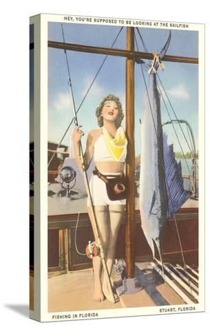 Bathing Beauty and Sailfish, Stuart, Florida--Stretched Canvas Print