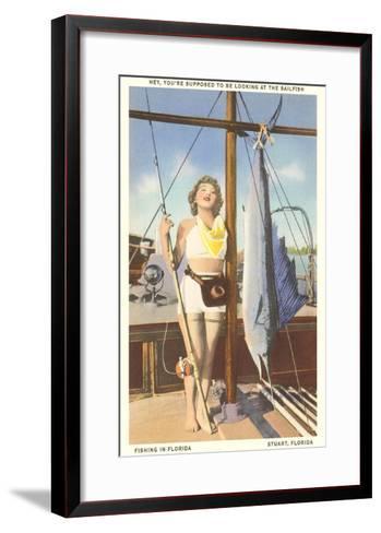 Bathing Beauty and Sailfish, Stuart, Florida--Framed Art Print