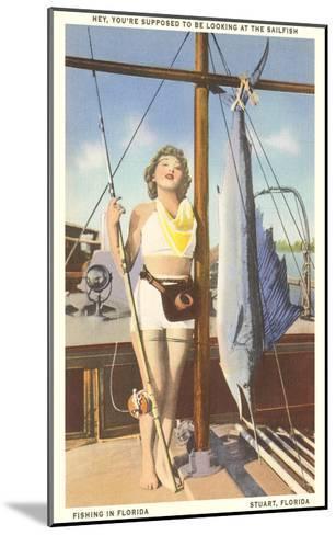 Bathing Beauty and Sailfish, Stuart, Florida--Mounted Art Print