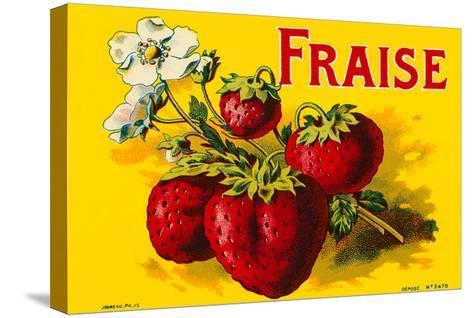 French Strawberries--Stretched Canvas Print