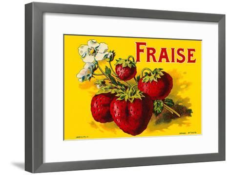 French Strawberries--Framed Art Print