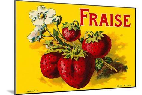 French Strawberries--Mounted Art Print