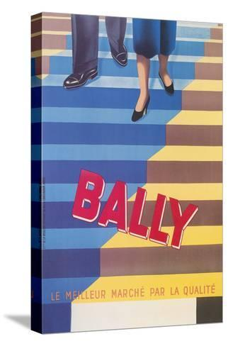 Ad for Bally Shoes, Staircase--Stretched Canvas Print