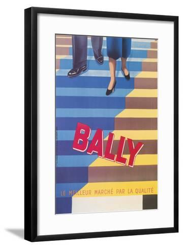 Ad for Bally Shoes, Staircase--Framed Art Print