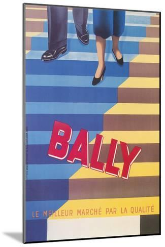 Ad for Bally Shoes, Staircase--Mounted Art Print