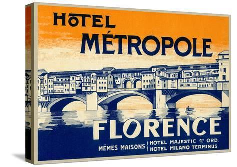 Hotel Metropole, Florence, Italy--Stretched Canvas Print