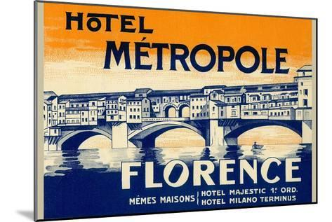 Hotel Metropole, Florence, Italy--Mounted Art Print