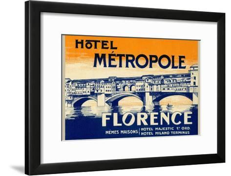 Hotel Metropole, Florence, Italy--Framed Art Print