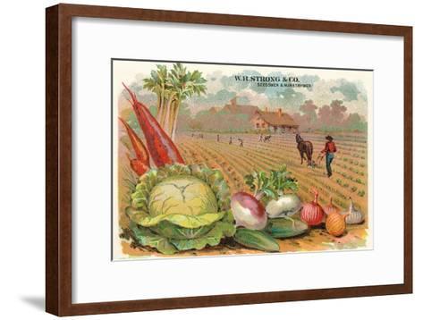 Vegetables, Old Fashioned Farm--Framed Art Print