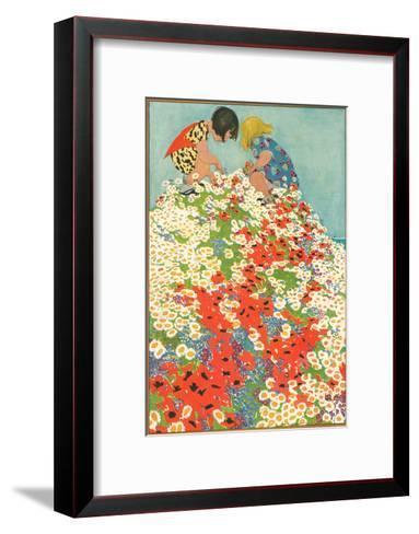Little Girls In Field Of Flowers Art Print By Art