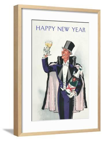 Happy New Year, Swell with Champagne--Framed Art Print