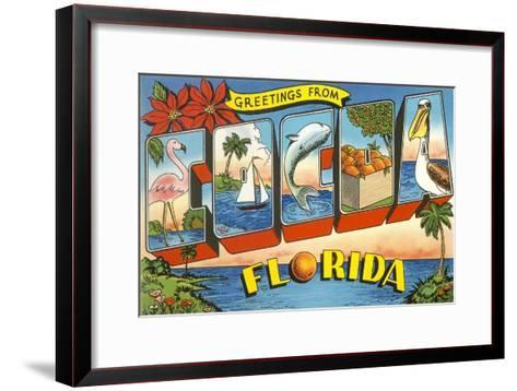 Greetings from Cocoa, Florida--Framed Art Print