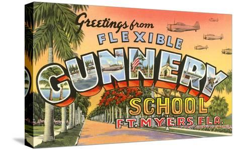 Greetings from Flexible Gunnery School, Florida--Stretched Canvas Print