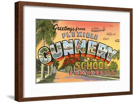 Greetings from Flexible Gunnery School, Florida--Framed Art Print