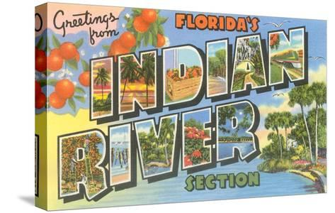 Greetings from Indian River, Florida--Stretched Canvas Print