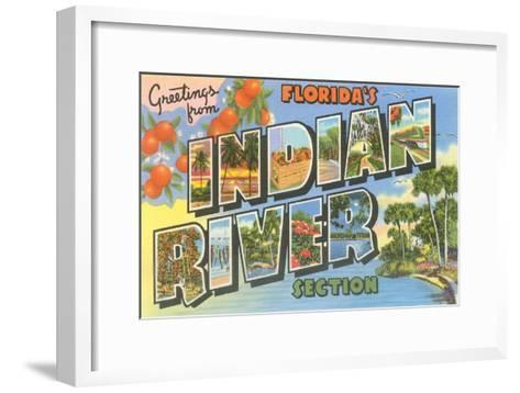 Greetings from Indian River, Florida--Framed Art Print