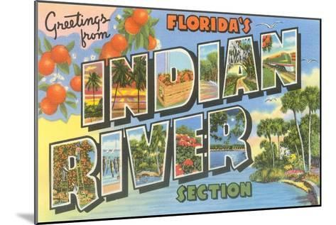 Greetings from Indian River, Florida--Mounted Art Print
