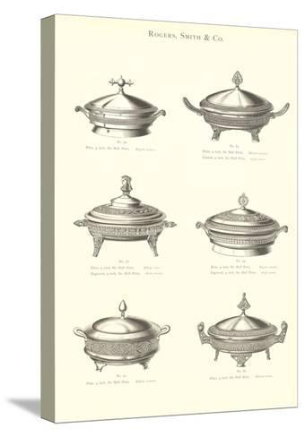 Silver Chafing Dishes--Stretched Canvas Print